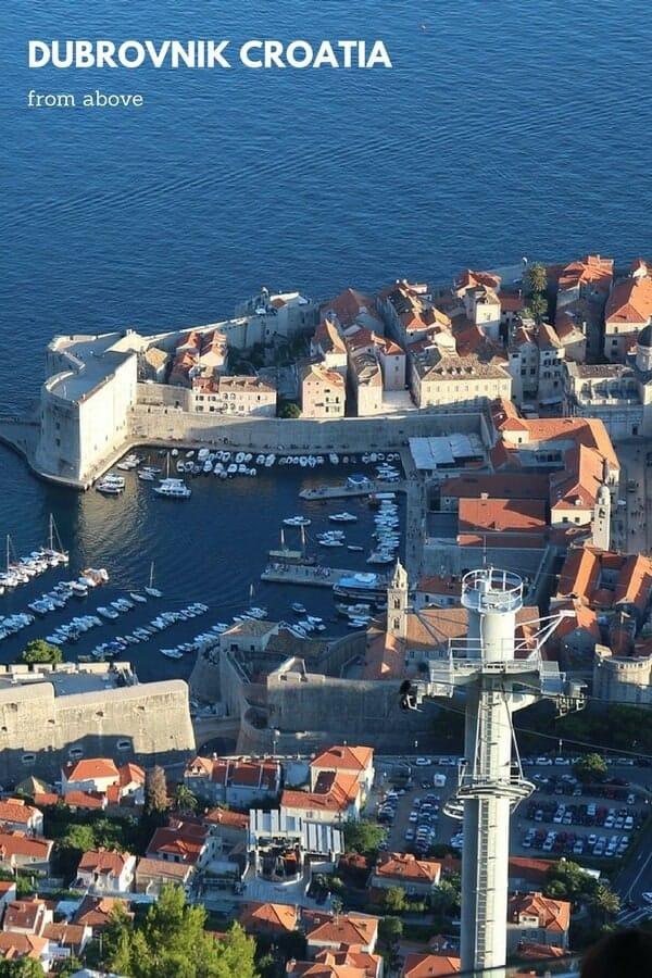 Dubrovnik cable car a ride up Mount Srd