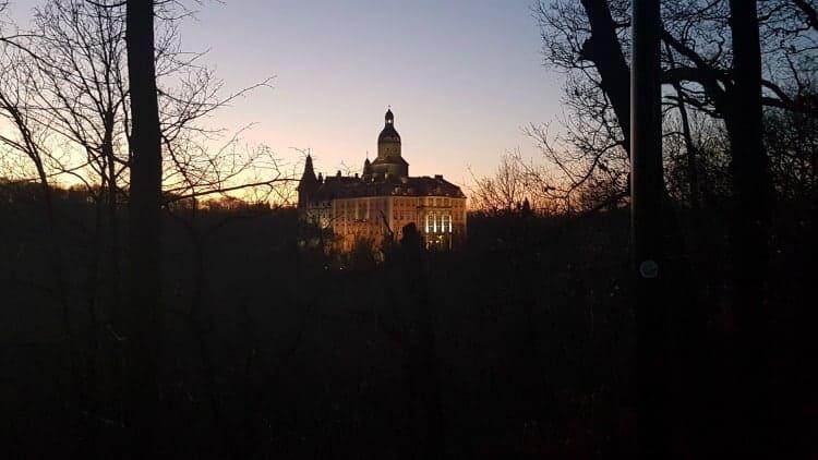 Ksiaz Castle at night