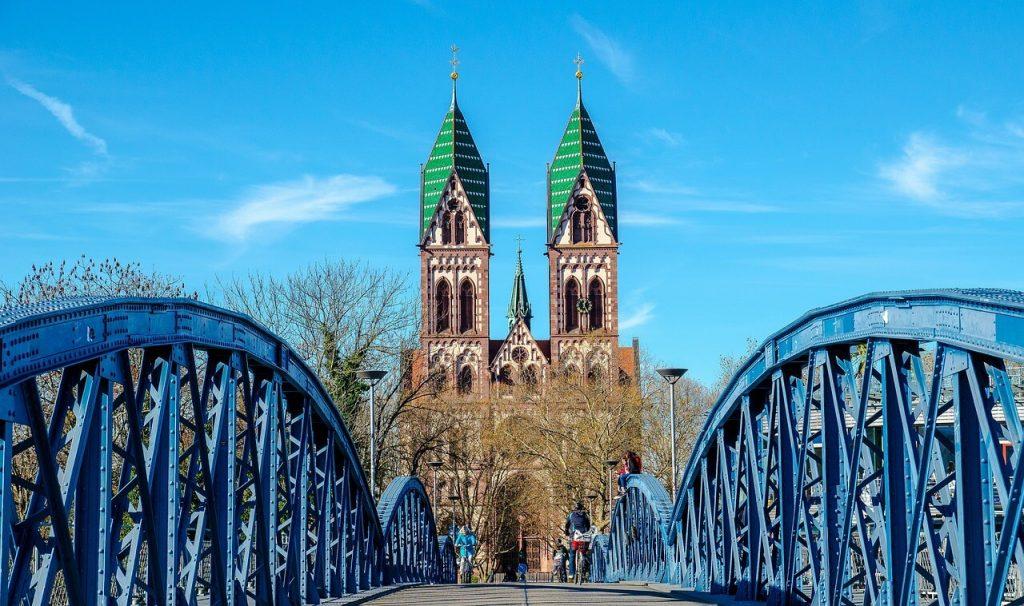 Bridge in Freiburg Germany
