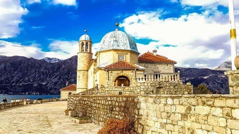 The Island church in Kotor Bay