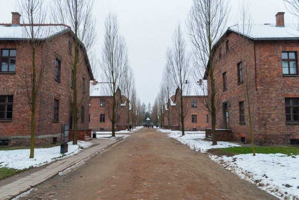 Auschwitz in winter