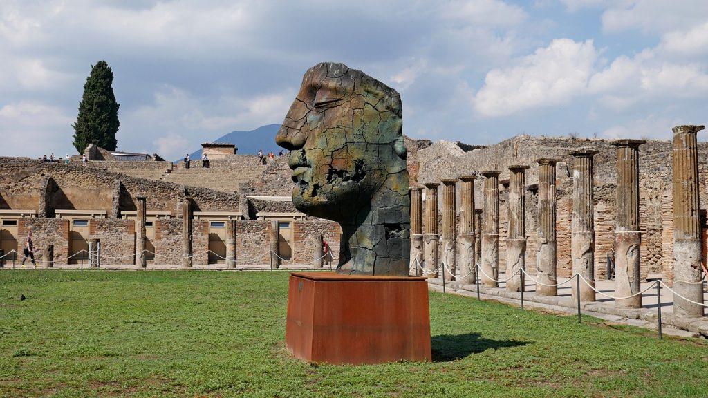A head at Pompeii