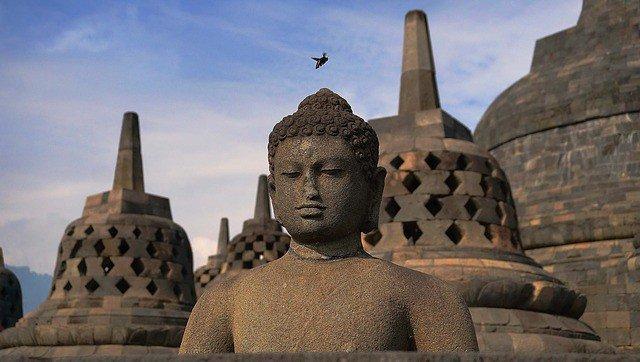 statues at Borobudur