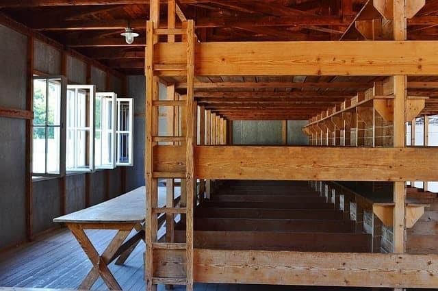 The bunks at Dachau