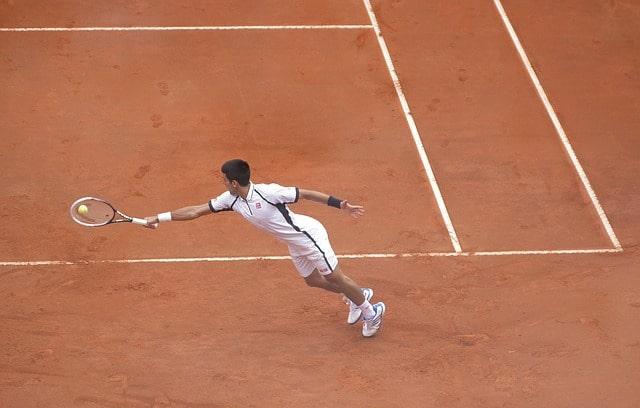 Tennis match in Spain