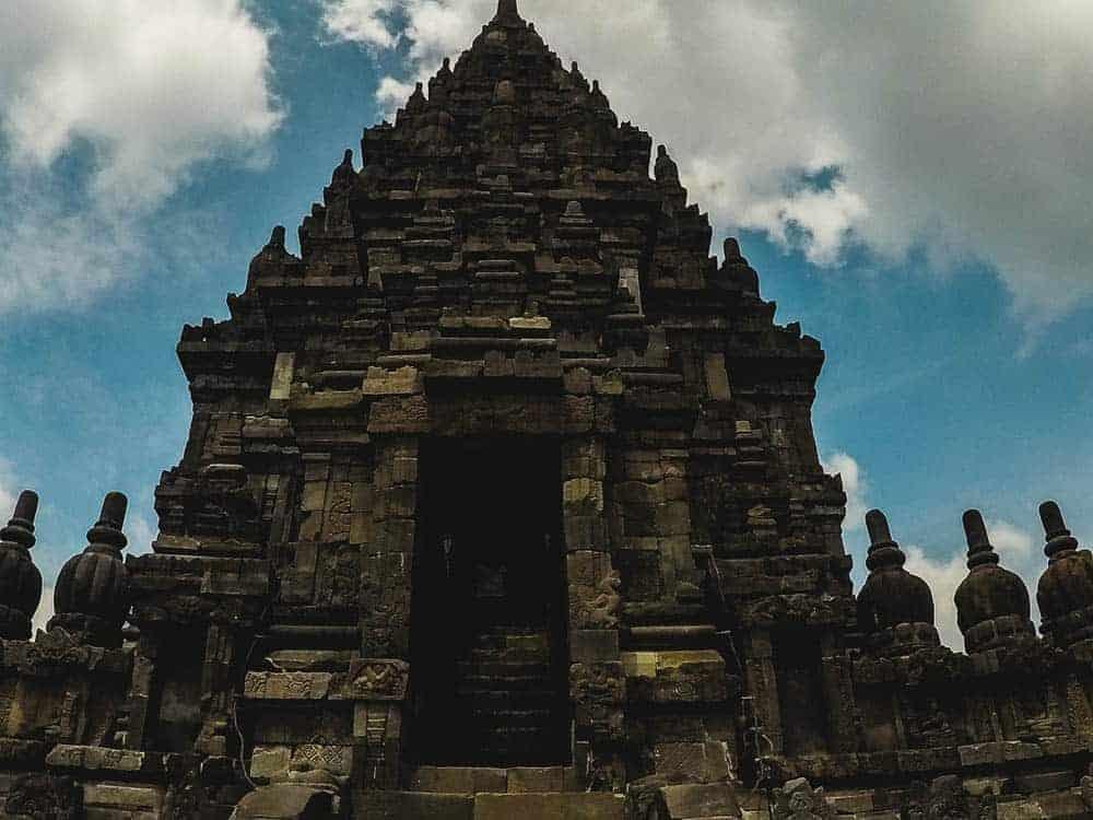The entrance to a Prambanan Temple
