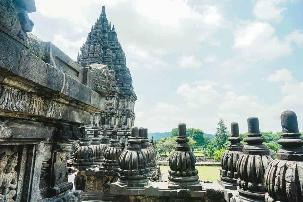 Stone carving at Prambanan