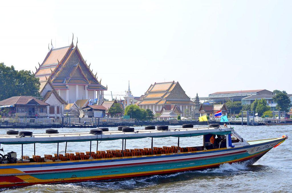 boat on bangkok river