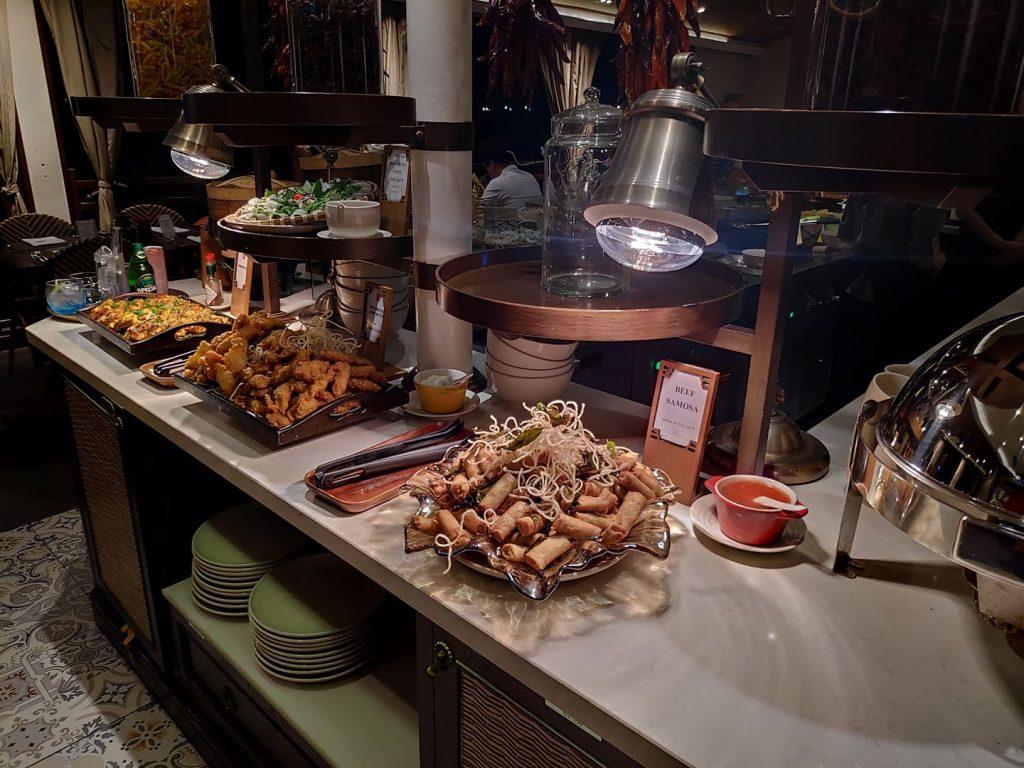spring rolls, battered fish Saigon dinner river cruise