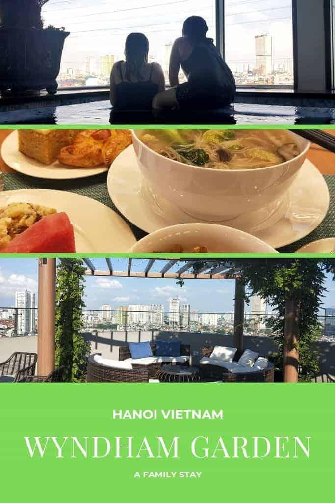 Staying at Wyndham Garden Hanoi Vietnam.