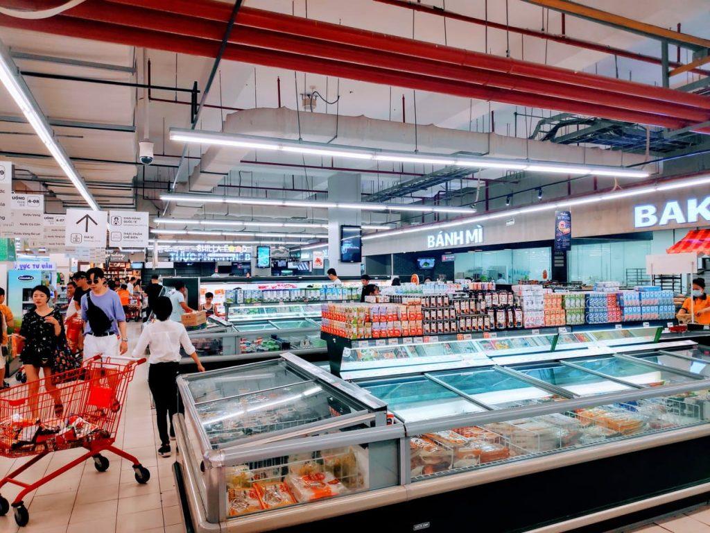 Frozen goods at vietnam supermarket