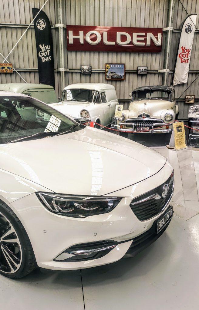 Cars in a museum at Trafalgar in Gippsland Australia