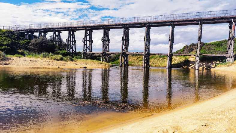 old railway trestle bridge