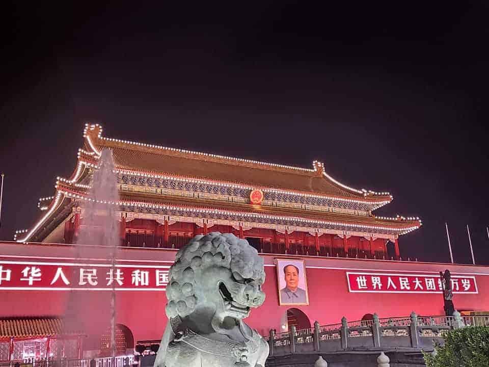Mao picture in Beijing