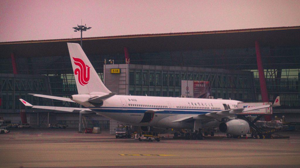 Plane at Beijing Airport