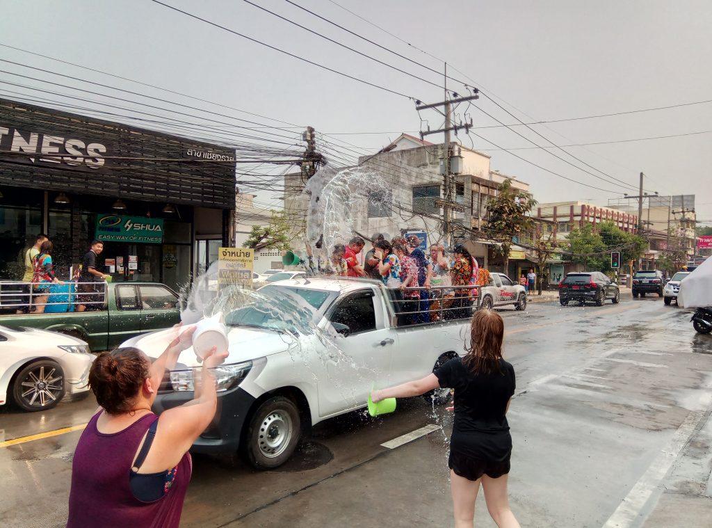 songkran water fight thailand