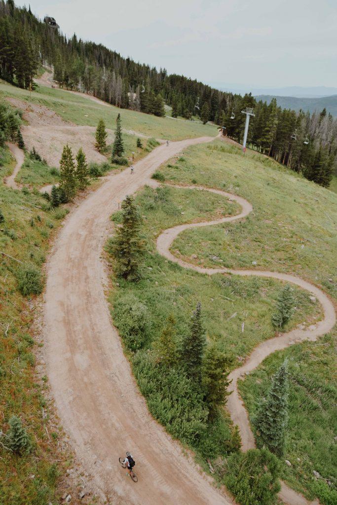 mountaon biking in Vail