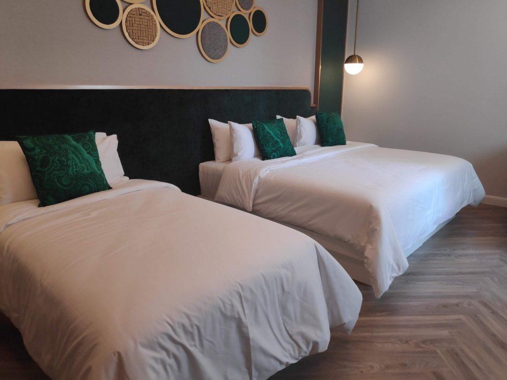 hotel room Laos
