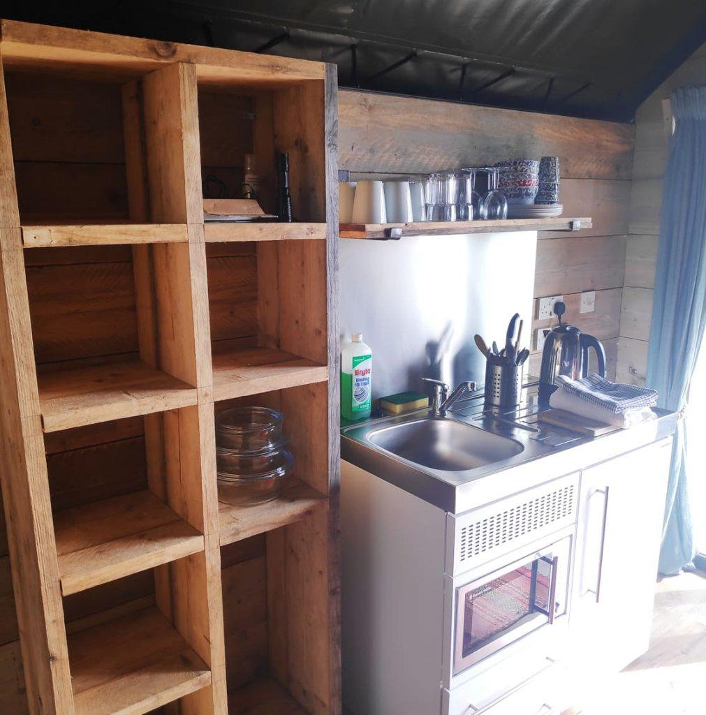 Glamoing kitchen at Llechwedd
