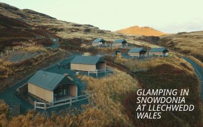 Glamping in Snowdonia at Llechwedd Slate Mountain