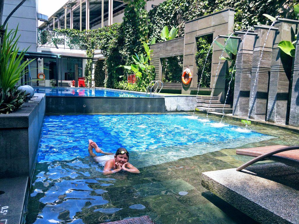 in the pool in bandung