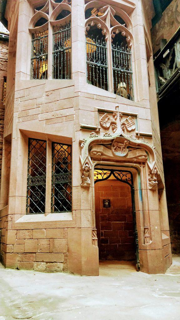 doorway at Chateau Haut Koenigsbourg