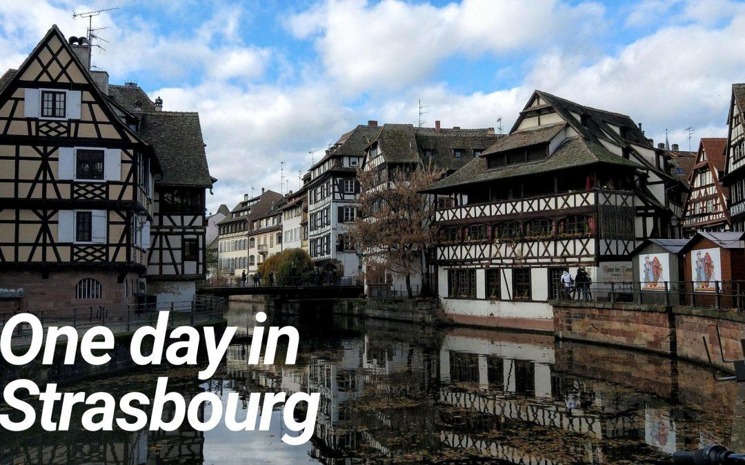 One day in Strasbourg France