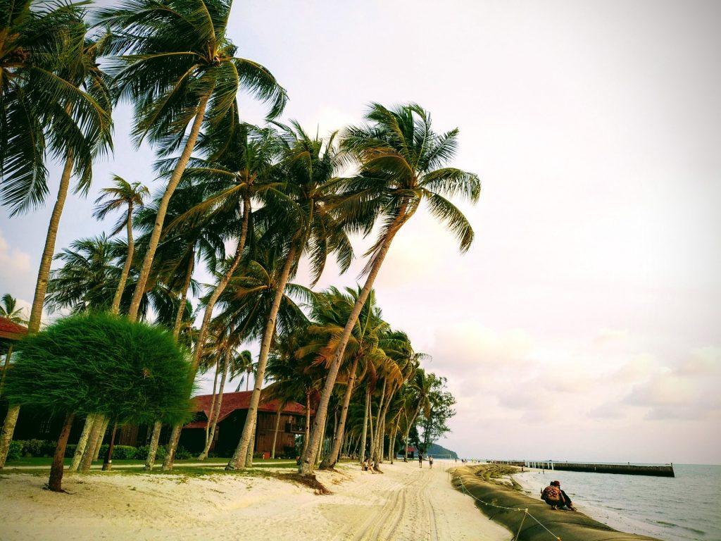 beach at Langkawi with Resort
