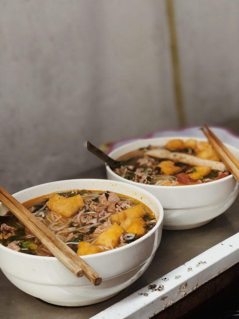 bowls of malaysian food