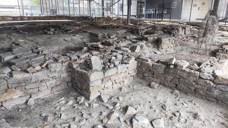 Archeological site under YHA sydney harbour