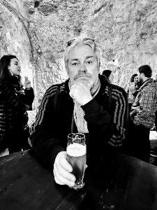 Having a beer in Pilsen Czech