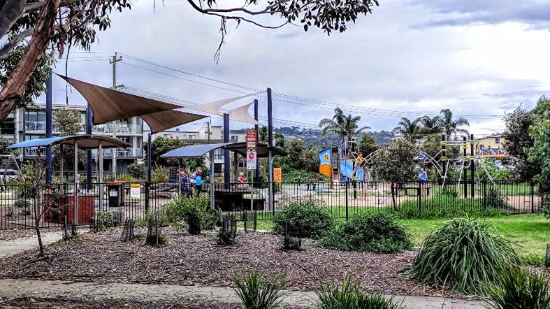 playgrounds near the beach in Merimbula
