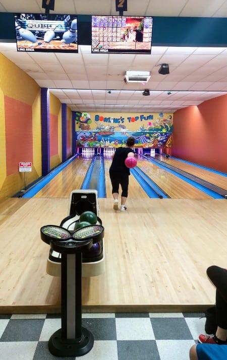 10 pin bowling at top fun Merimbula