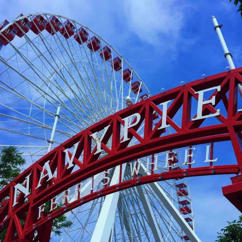 The ferris wheel at navi Park